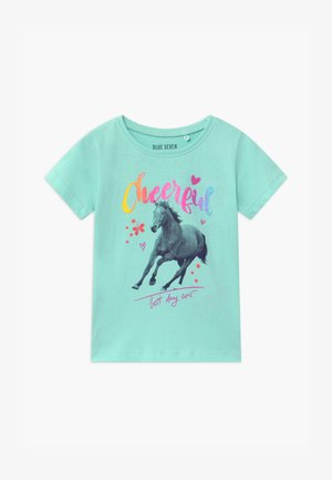 SMALL GIRLS HORSE - T-shirt z nadrukiem - aqua