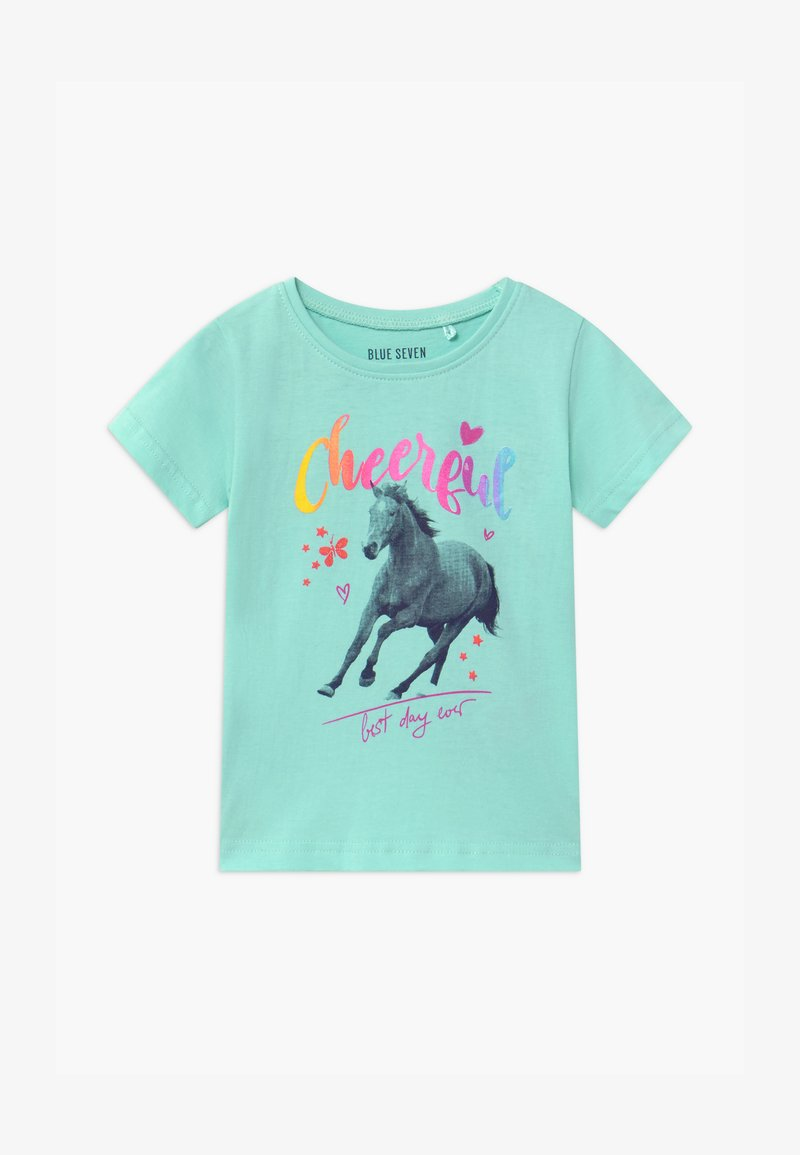 Blue Seven - SMALL GIRLS HORSE - Print T-shirt - aqua