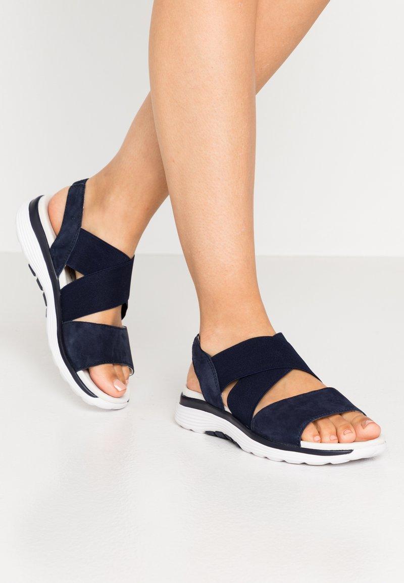 Gabor Comfort - Platform sandals - blue