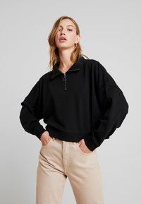 Noisy May - NMHALLY ZIP - Sweatshirt - black - 0