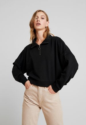 NMHALLY ZIP - Sweatshirt - black
