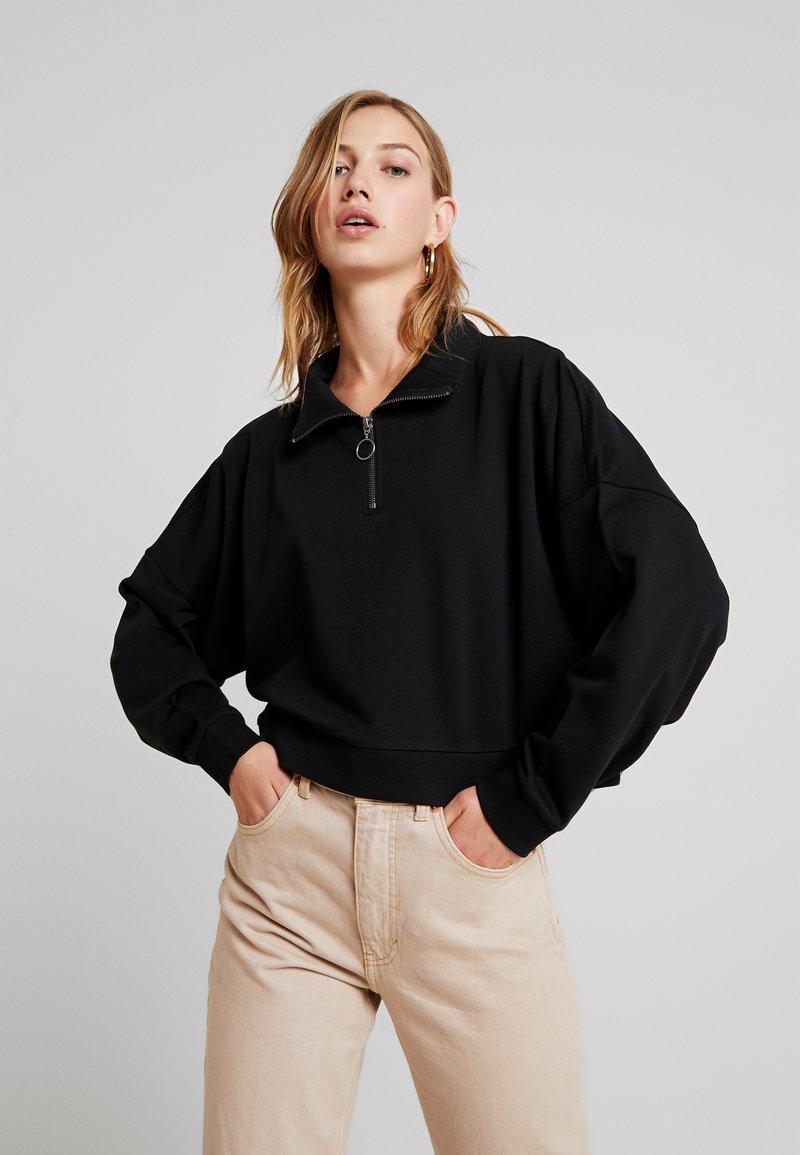 Noisy May - NMHALLY ZIP - Sweatshirt - black