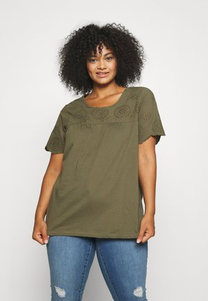 DARLINE BLOUSE - T-shirts med print - ivy green