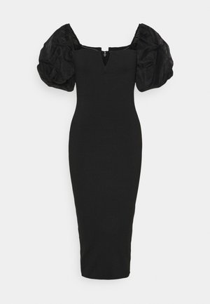 ORGANZA SLEEVE BANDAGE MIDAXI DRESS - Cocktailkjole - black