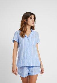 Anna Field - STRIPE SHORT SET - Pyžamová sada - blue - 1