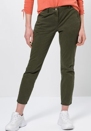 SLIM FIT  - Trousers - dark basil