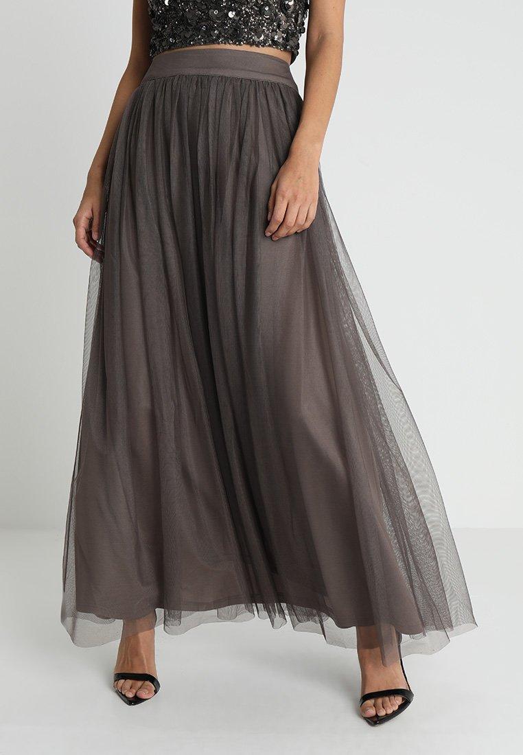 Lace & Beads - MARIKO SKIRT - Maxi sukně - stone