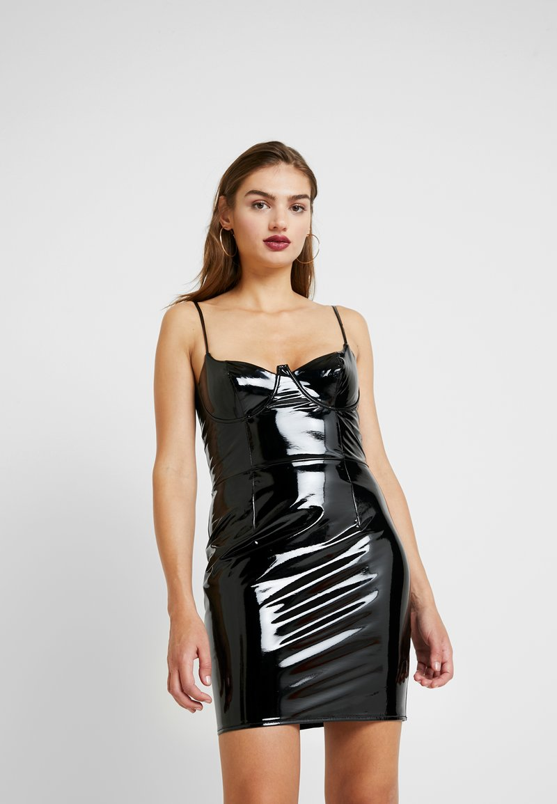 Missguided - HALLOWEEN CAMI MINI DRESS - Denní šaty - black