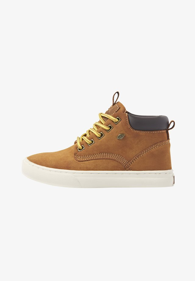 High-top trainers - cognac/dk brown