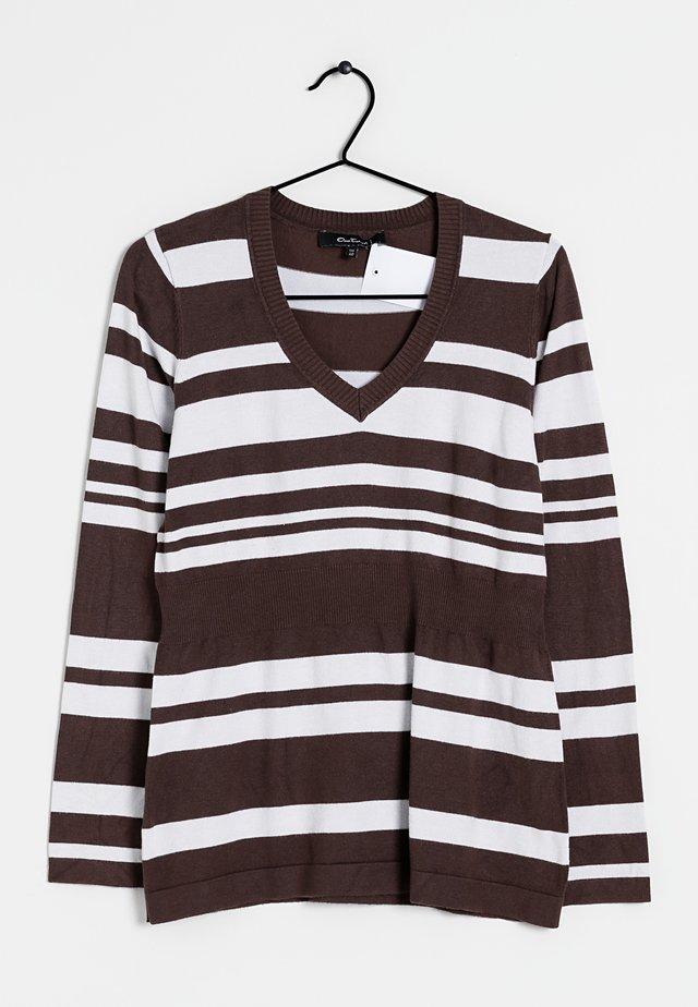 Trui - brown/white