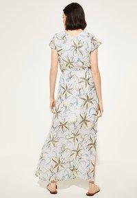 comma casual identity - MIT TUNNELZUG - Maxi dress - white flowers & dots - 2