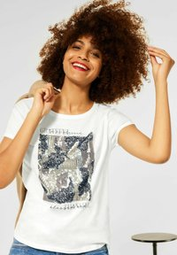 Street One - MIT PARTPRINT - Print T-shirt - weiß - 1