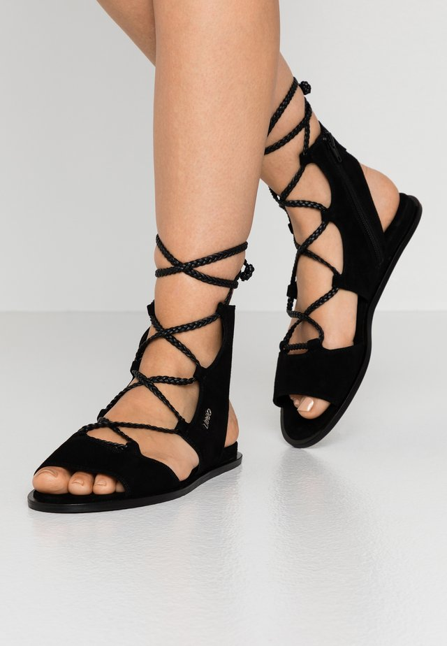 THEA  - Ankle cuff sandals - black