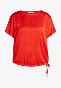 Oui - Basic T-shirt - fiery red - 4