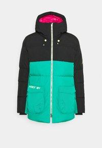 Jordan - Down coat - black/watermelon/neptune green - 0