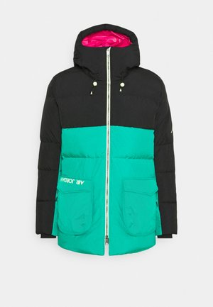 Down coat - black/watermelon/neptune green
