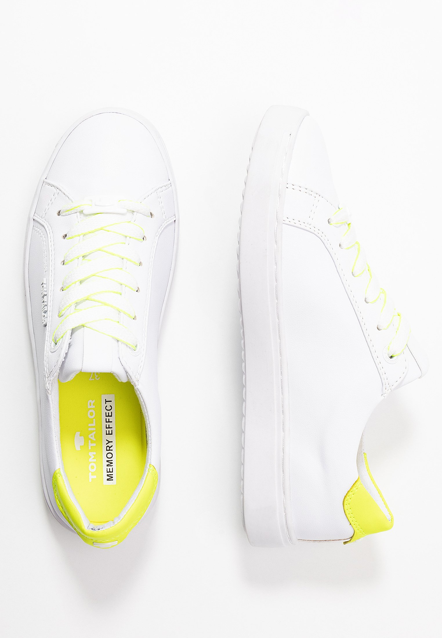 TOM TAILOR Joggesko whiteneon yellowhvit Zalando.no
