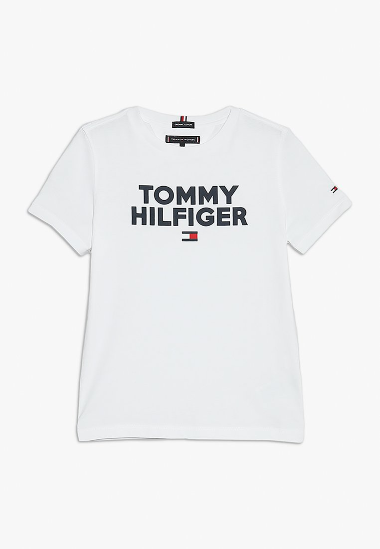 Tommy Hilfiger - LOGO TEE  - T-shirt imprimé - white