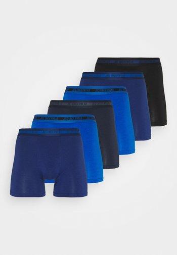 6 PACK - Boxerky - black/blue
