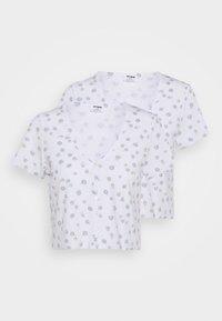 JANET BUTTON THROUGH SHORT SLEEVE 2 PACK - Print T-shirt - nola daisy white