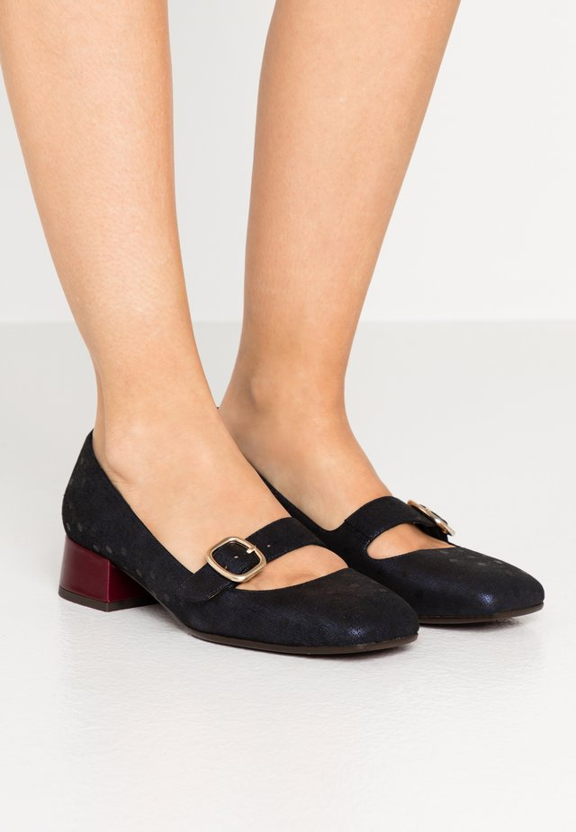 ZAMA - Tacones - amira navy/troka grape