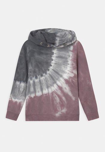BOYS HOODIE - Sweatshirt - rauchrot/grau