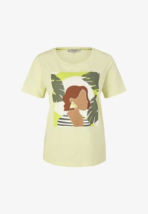 Print T-shirt - lime placed woman