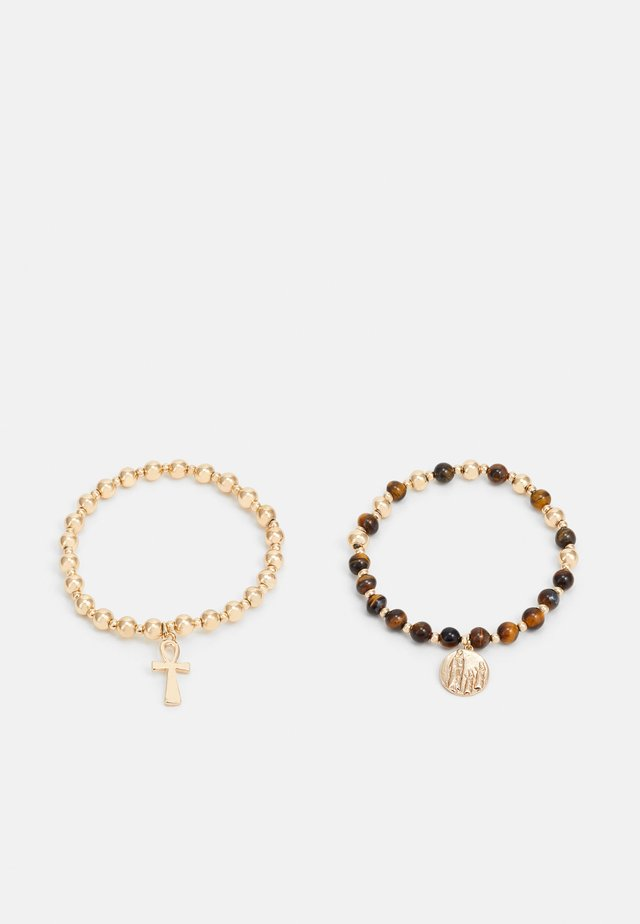 BEADED CROSS COIN 2 PACK - Bracciale - gold-coloured