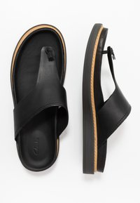 Clarks - TRACE SHORE - Sandalias de dedo - black - 3