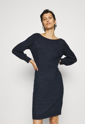 VMLEFILE BALLOON 3/4 BOATNECK DRESS TALL - Jumper dress - navy blazer