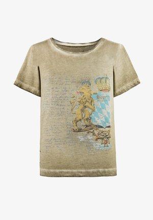 BENE JR. - Print T-shirt - sand