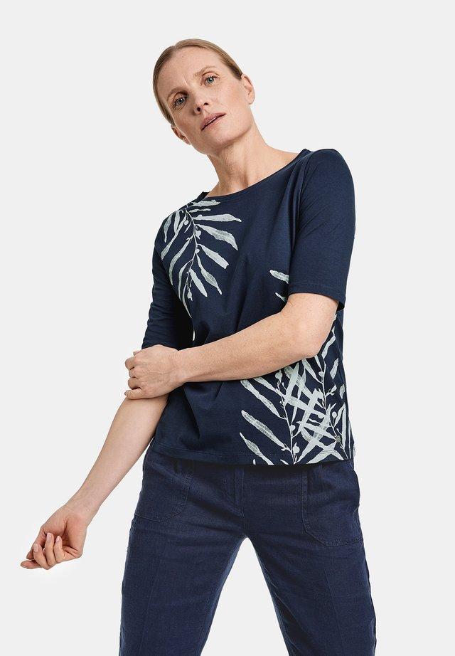 Print T-shirt - azur