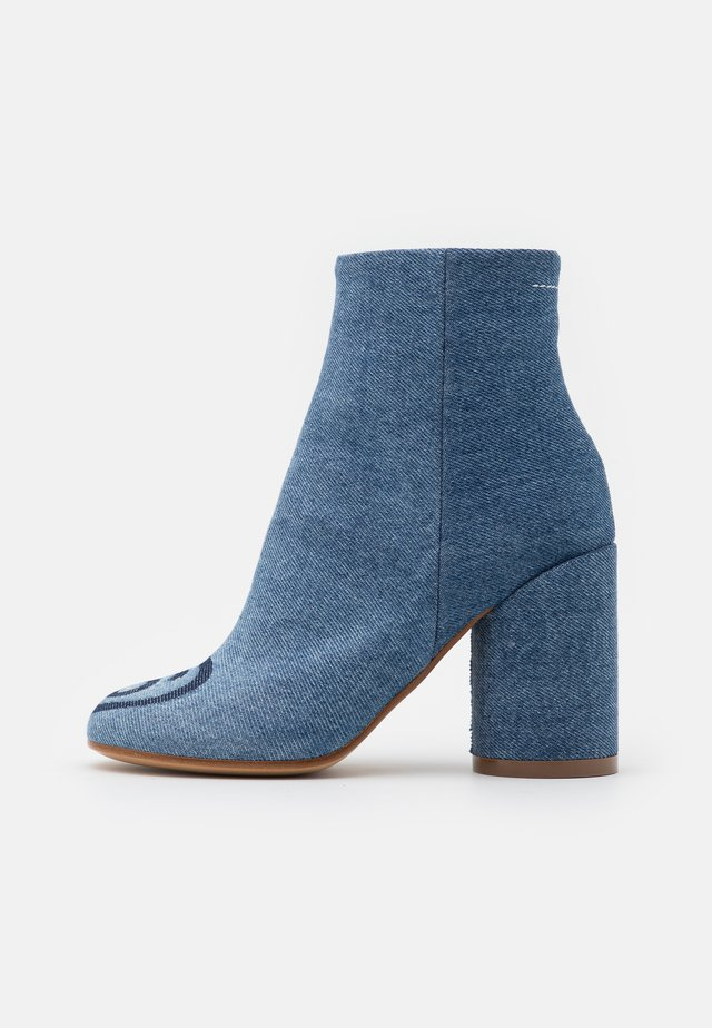 NUOVO TRONCHETTO - High heeled ankle boots - denim