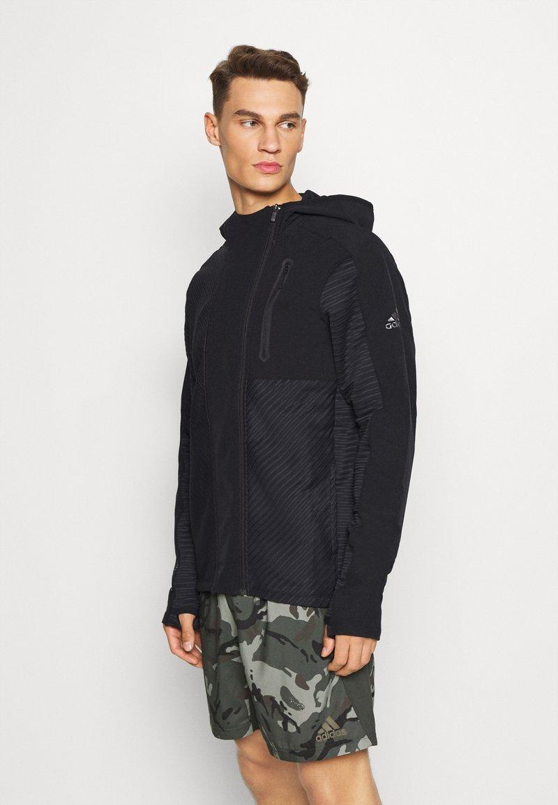adidas Performance - TRAINING HOODED TRACKSUIT JACKET - Zip-up hoodie - black