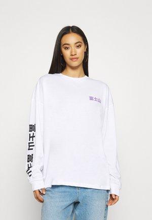 MOUNT FUJI SKATE TEE - Long sleeved top - white