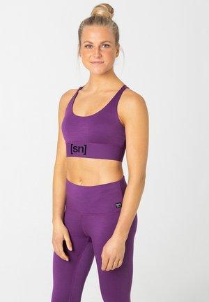 MERINO - Light support sports bra - dunkellila