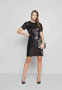 KARL LAGERFELD - SEQUINS DRESS WITH PUNTO - Cocktail dress / Party dress - black - 1