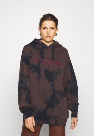 HOODIE EMBROIDERY - Sweater - midnight/pink