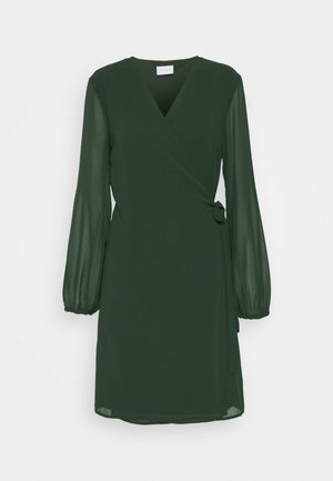 VIWINNIE TIE WRAP DRESS - Freizeitkleid - pine grove