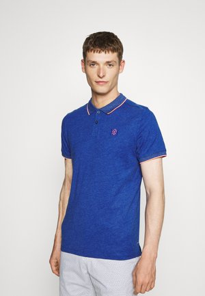 WITH TIPPING - Polo shirt - royal blue/white melange