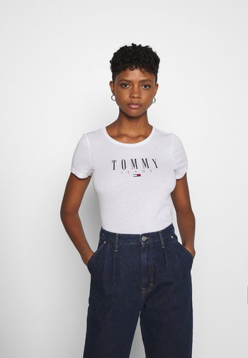 ESSENTIAL LOGO TEE - T-shirts med print - white