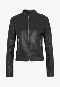 Pieces - PCNALLY BIKER JACKET - Keinonahkatakki - black - 3
