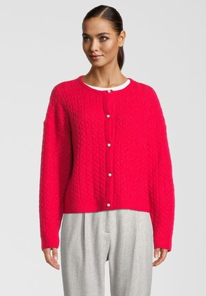 SHOU CABLE - Cardigan - persian red