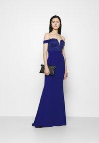 WAL G. - LOW PLUNGE NECK DRESS - Suknia balowa - electric blue - 1