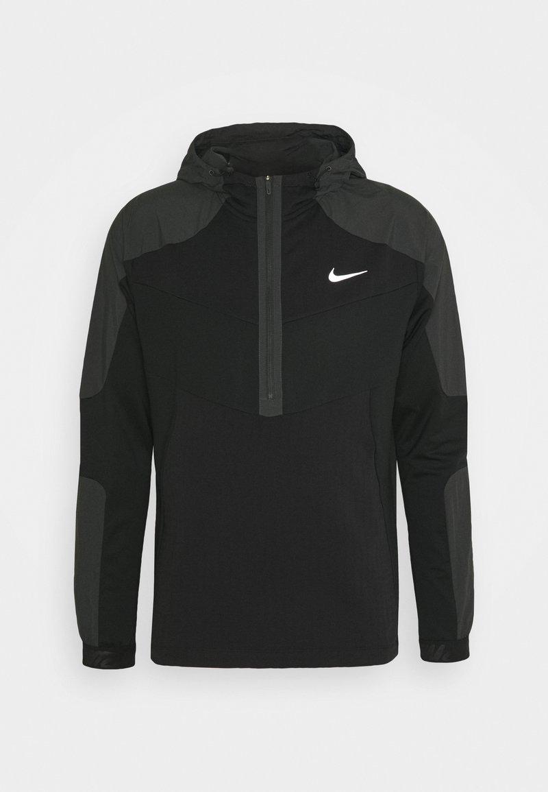 Nike Performance - Long sleeved top - black/smoke grey