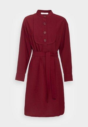 Shirt dress - dark red