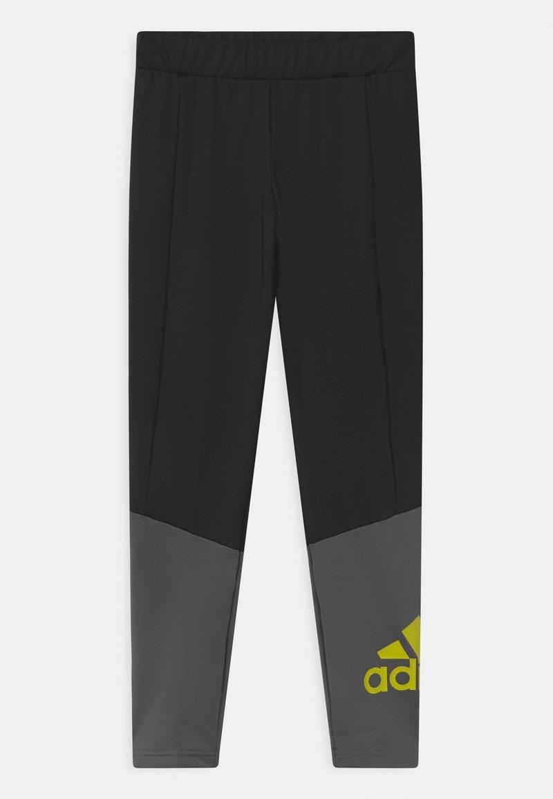 adidas Performance - UNISEX - Leggings - grey/neon yellow