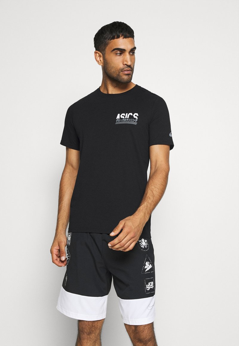 ASICS - GRAPHIC TEE - Camiseta estampada - performance black