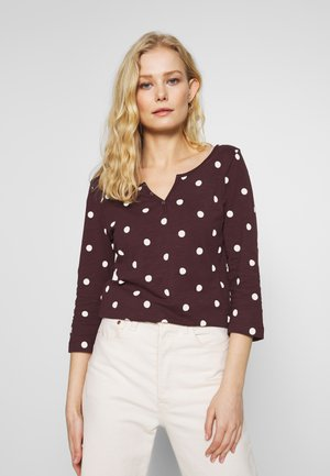 DOTTED  - Long sleeved top - bordeaux red