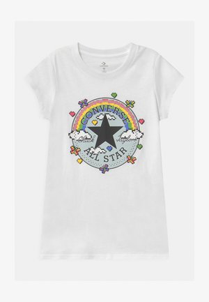 GAMER GIRL CHUCK PATCH - T-shirt med print - white